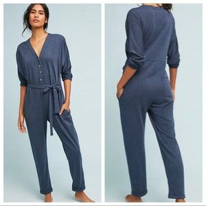 🆕NWT Anthropologie button down terry jumpsuit